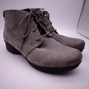 DANSKO Gray Suede Ankle Boots Booties Size 41 EU